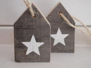 Stoere, sloophouten hanger met ster