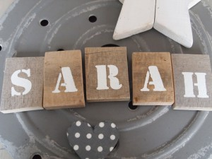 sloophouten letters naam