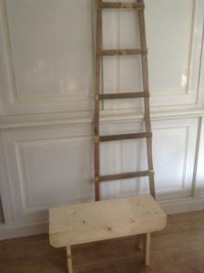 ladder en bankje zelf maken