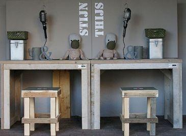 Wis en waarachtig stoer steigerhout - Jongen kamer decoratie idee ...