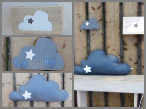 collage wolk kinderkamer
