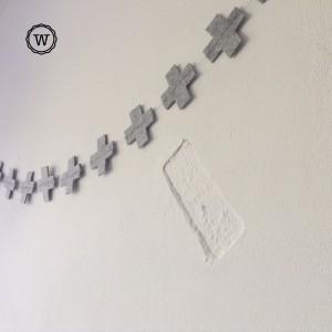 detail in muur geaccentueerd