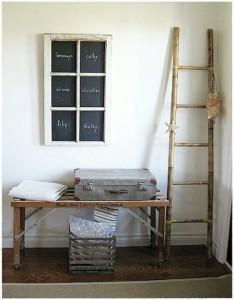 oud raam als krijtbord
