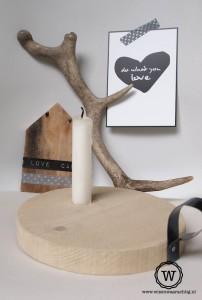 houten-kandelaar-met-oor