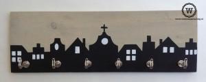 houten kapstok huisjes