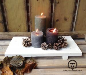 steigerhouten dienblad decoratie