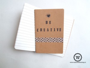 notitieboek creatief be creative