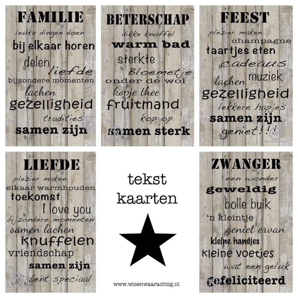 tekstkaarten