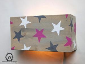 wandlamp-sterren-eigen-ontwerp