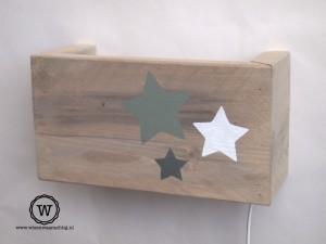 wandlamp-sterren-groen-wit