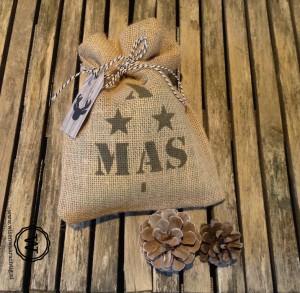 jute zakje kerst XMAS