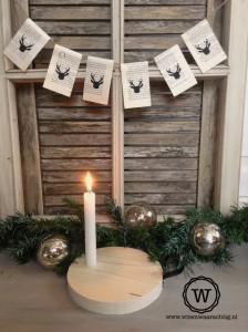 kerstdecoratie kandelaar slinger rendier