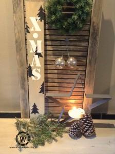 tekstbord kerstmis x mas