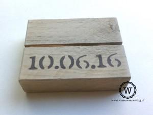 fotoblokje kaarthouder met datum
