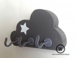 houten kapstok wolk