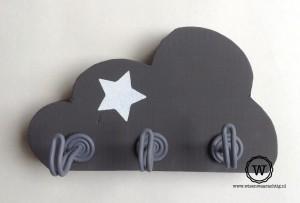 kapstok wolk drie haken