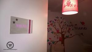 naambord meisjeskamer roze 1