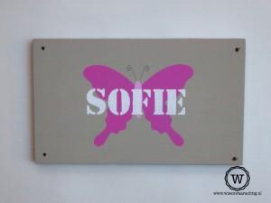 naambord-vlinder-roze