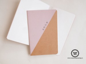 schrift met naam roze kraft