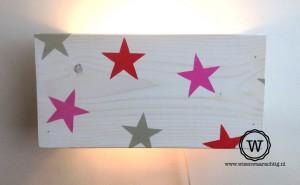 steren wandlamp roze rood