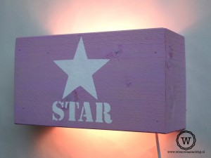 wandlamp-roze-star