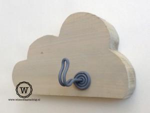 wolken kapstokje hout