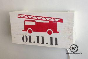lamp brandweerauto wit