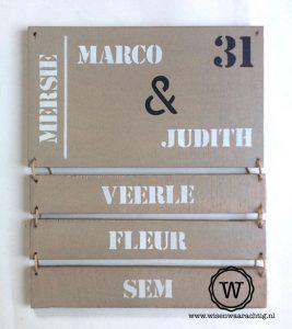 naambord uitbreiden met naambordjes voor kinderen